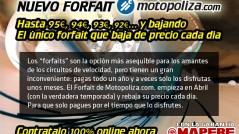 forfait de MAPFRE y Motopoliza.com