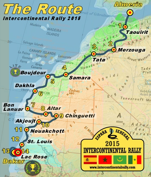 Ruta del International Rally