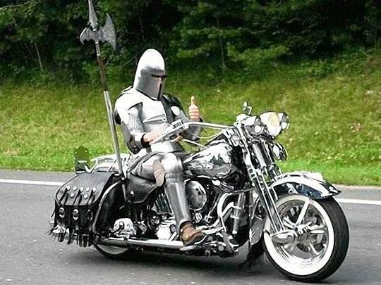 moto caballero disfraz