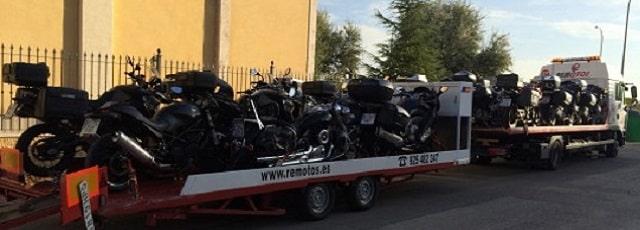 remoto transporte de moto
