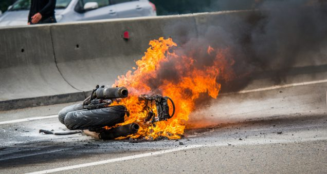 incendio de la moto que hacer