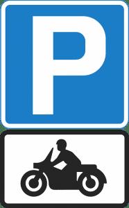 aparcar la moto en la acera