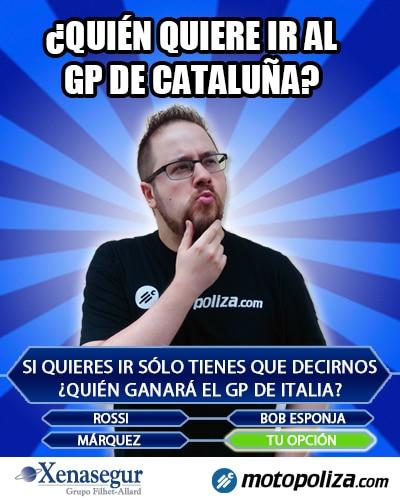 Gana dos entradas para el MotoGP de Cataluna