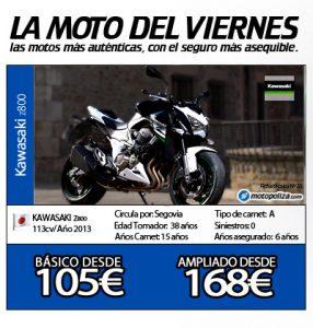 La moto del viernes Kawasaki z800