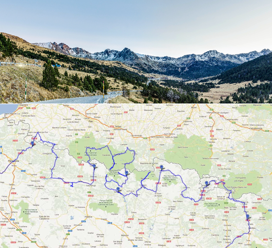 Las mejores carreteras moteras - Los Pirineos
