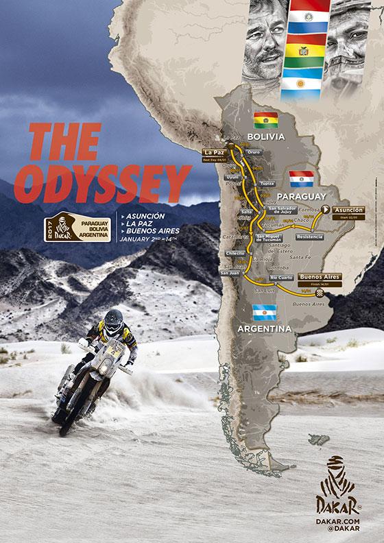 Recorrido del Rally Dakar 2017