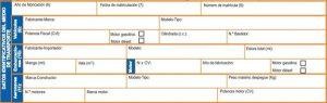 Datos del transporte ITP Modelo 620 moto de segunda mano